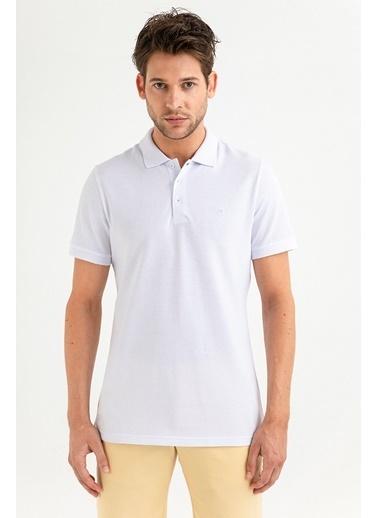 Avva Erkek  Polo Yaka Düz  Tişört A01B1175 Beyaz